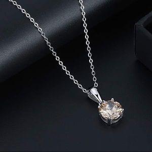 S925 November (topaz) birthstone necklace